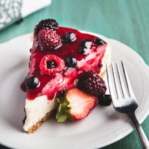 cheesecake light al cioccolato fondente