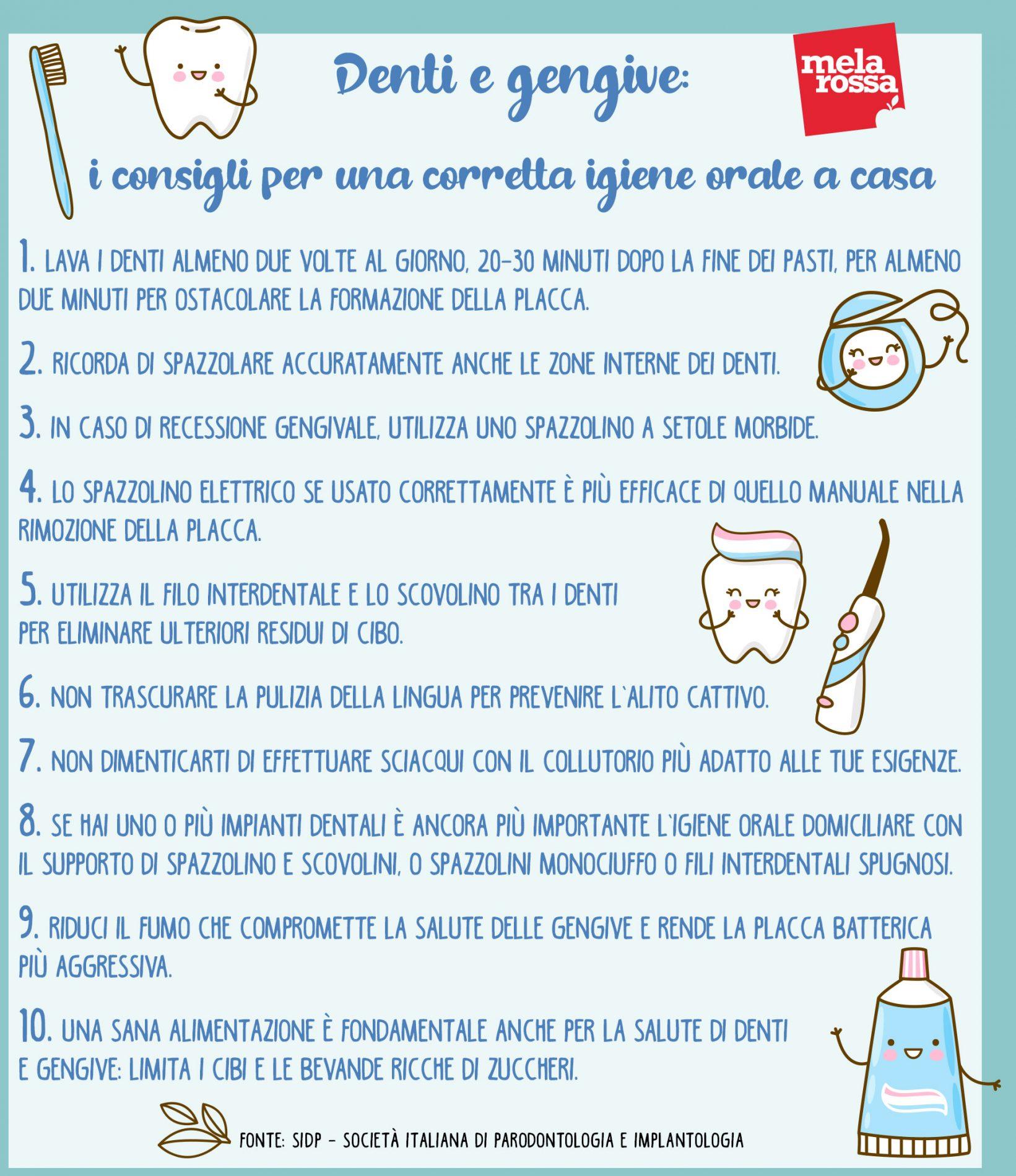 denti igiene orale casa consigli