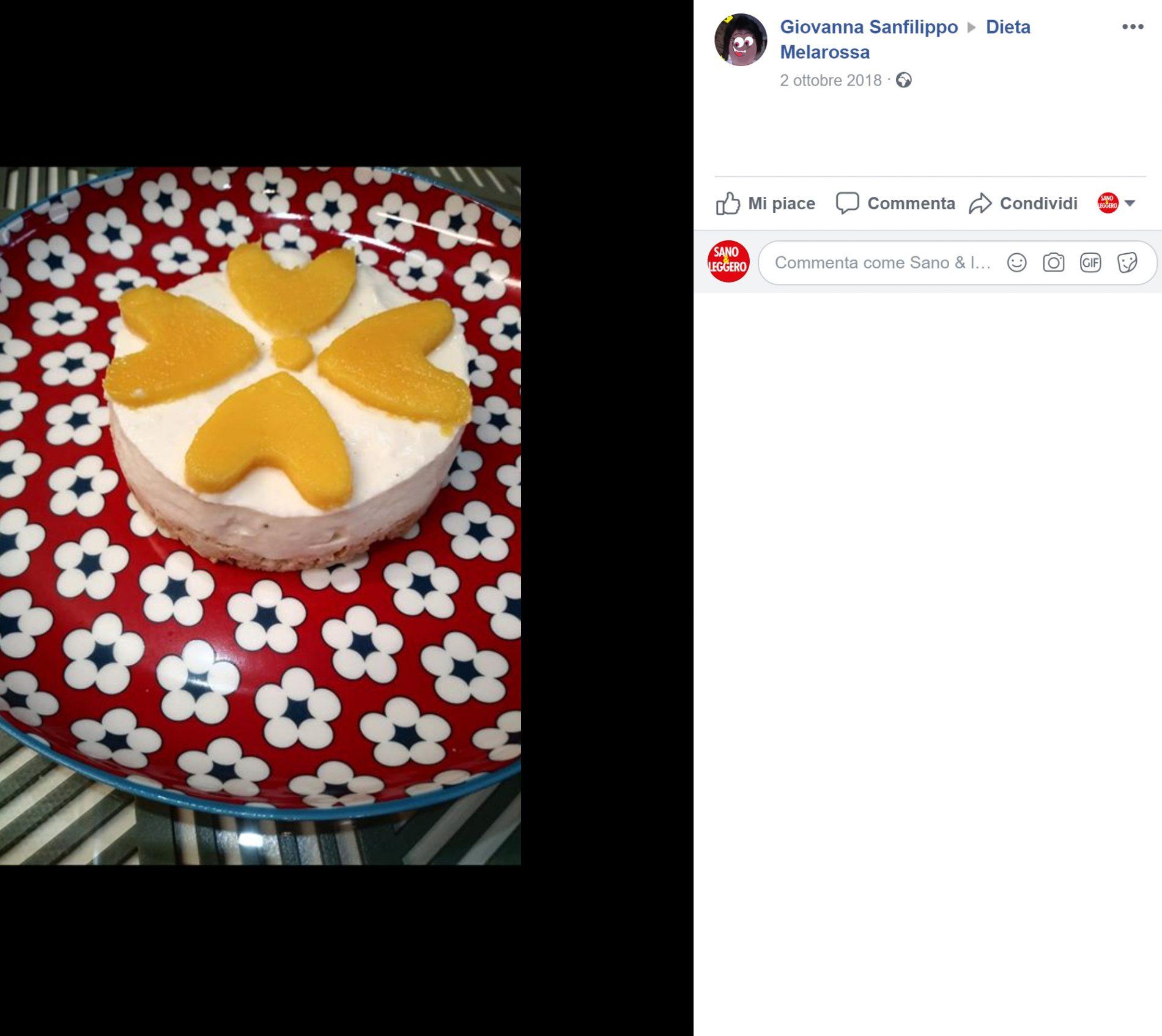 finta cheesecake al mango ricetta
