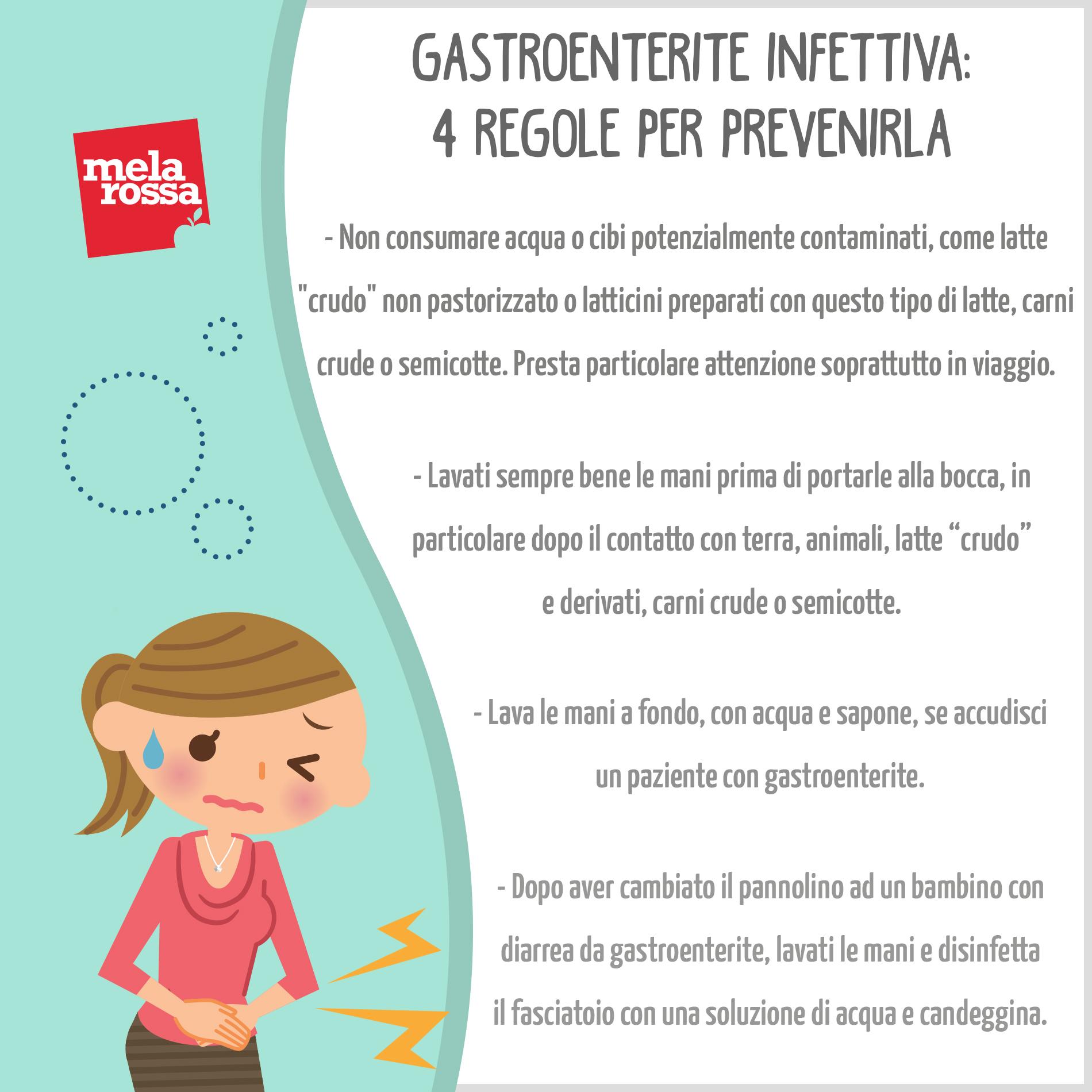 Gastroenterite infettiva: 4 regole per prevenirla