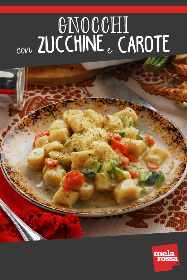 gnocchi con zucchine e carote ricetta