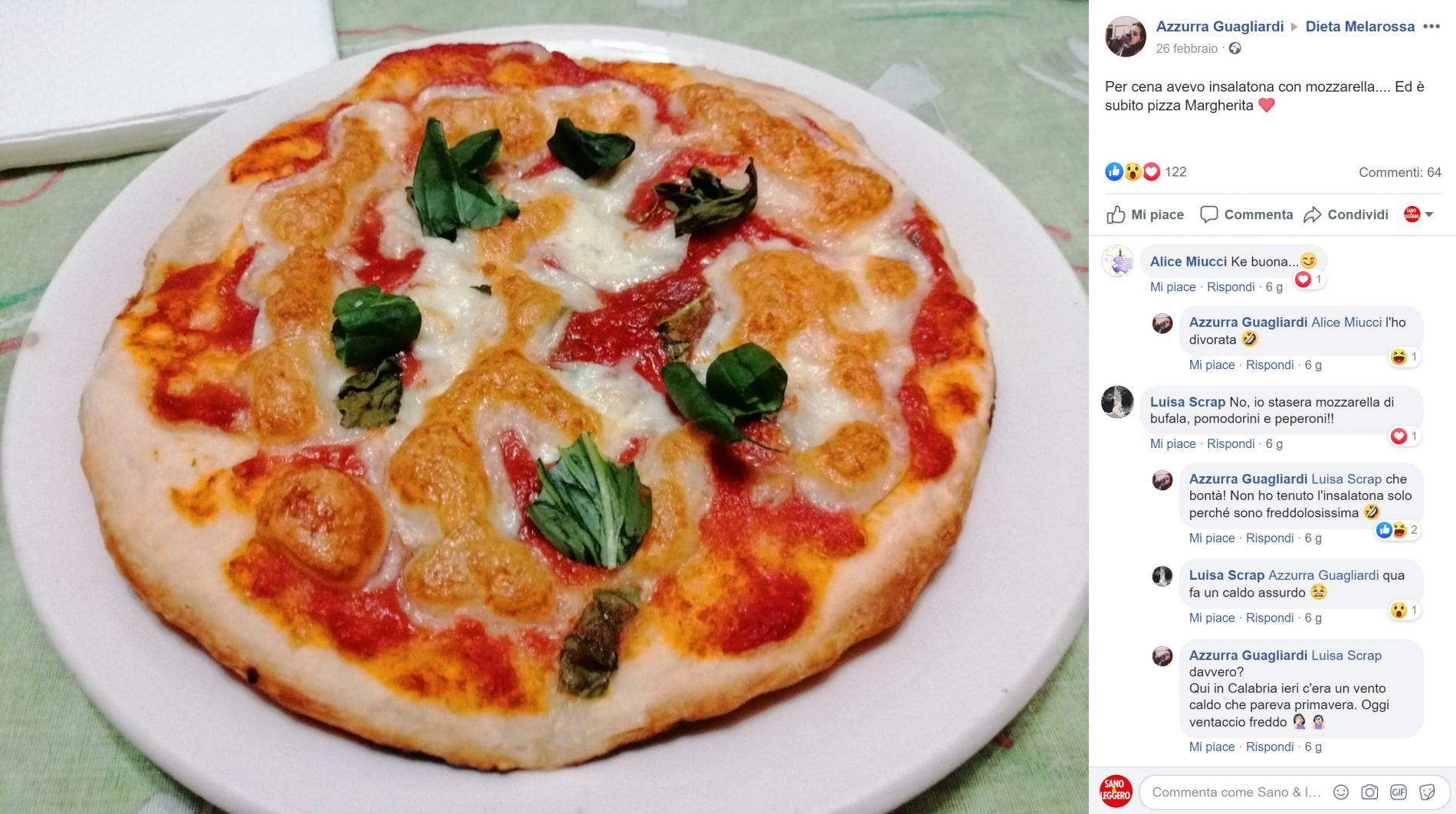 da insalatona a pizza margherita