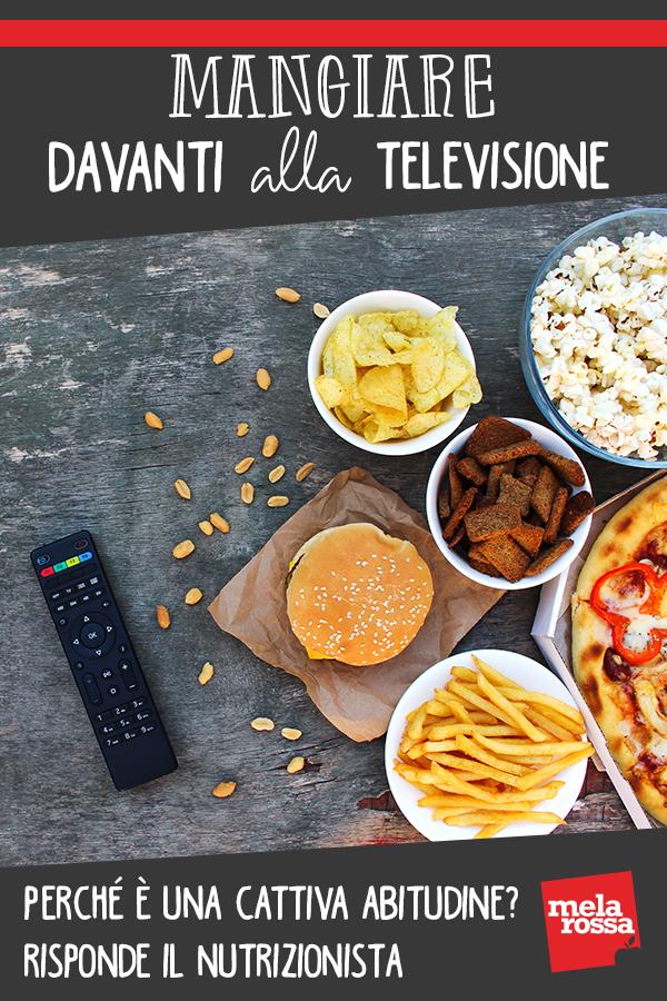 mangiare davanti alla televisione fa male
