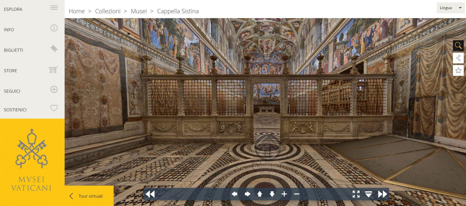 musei vaticani cappella sistina tour virtuale