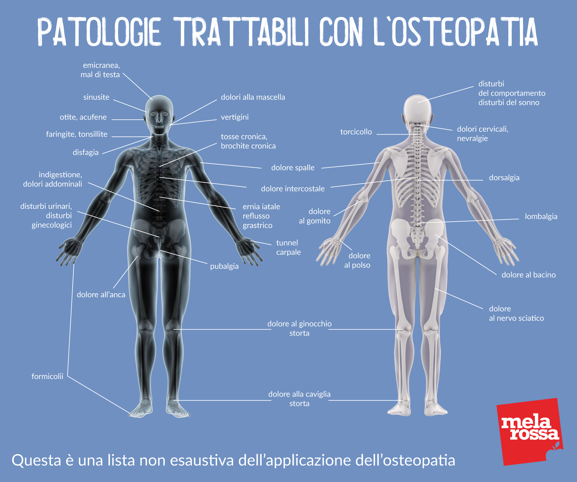 patologie trattabili con osteopatia