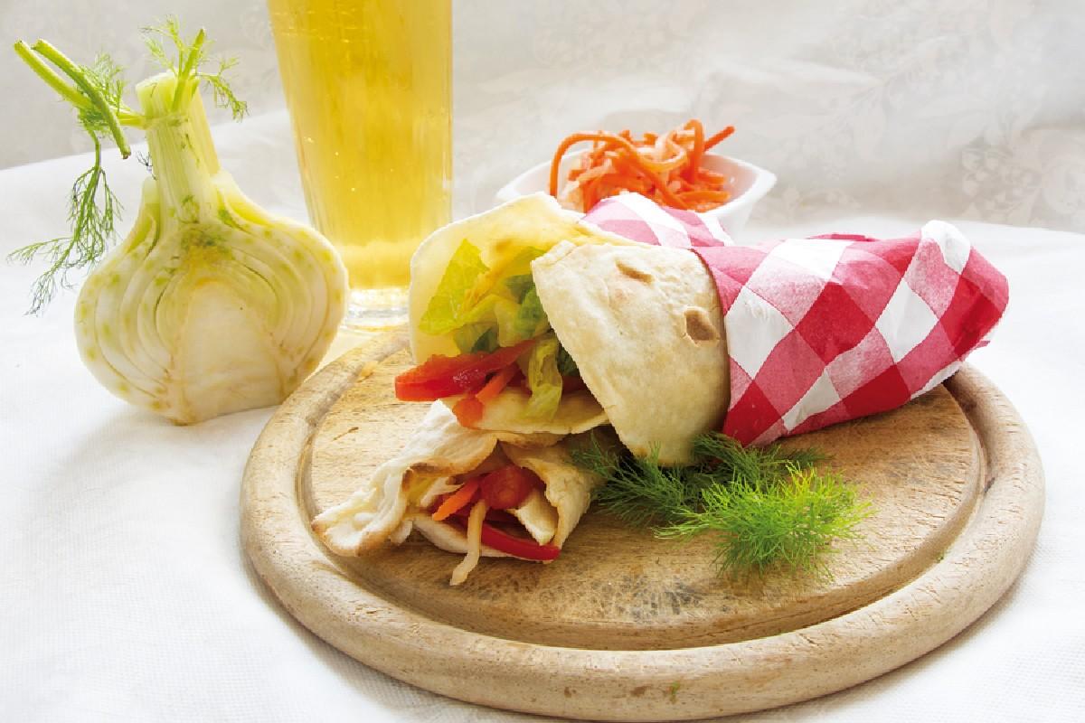 piadine con insalata