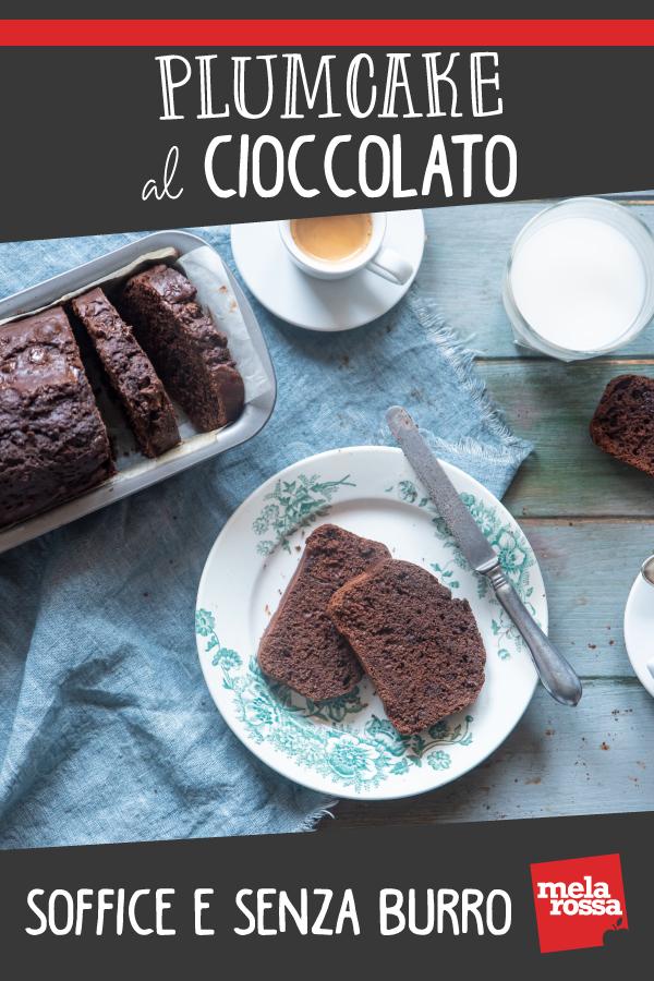plumcake al cioccolato : ricetta senza burro
