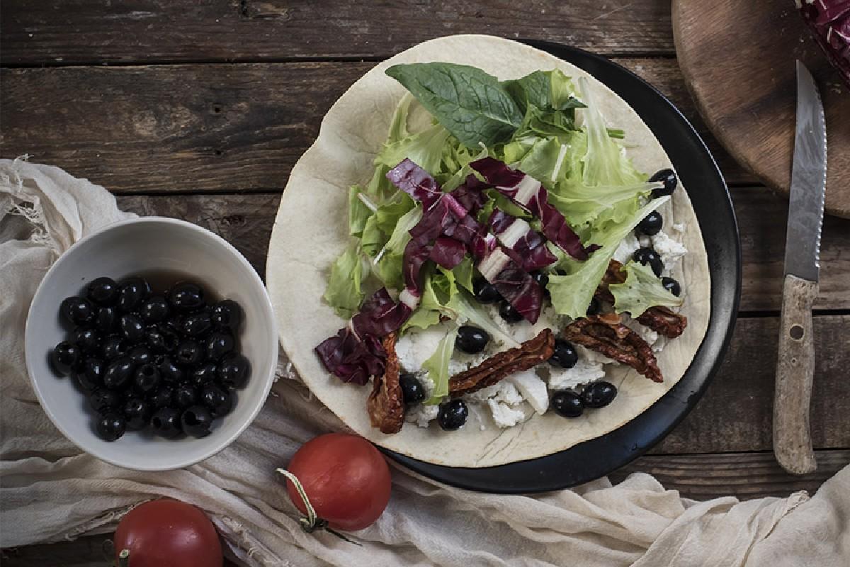 piadina pomodori secchi e olive