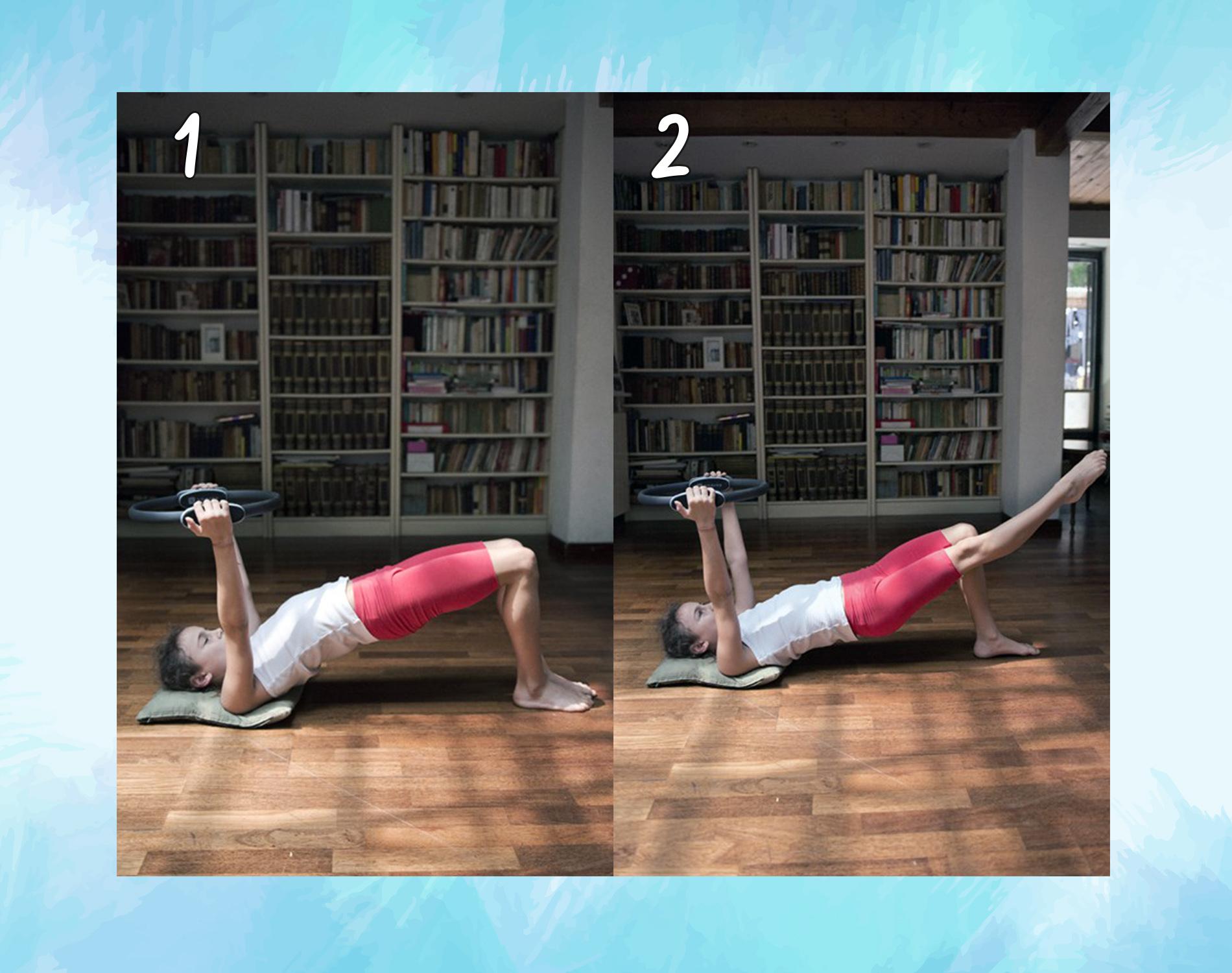 Ponte esercizi col ring pilates