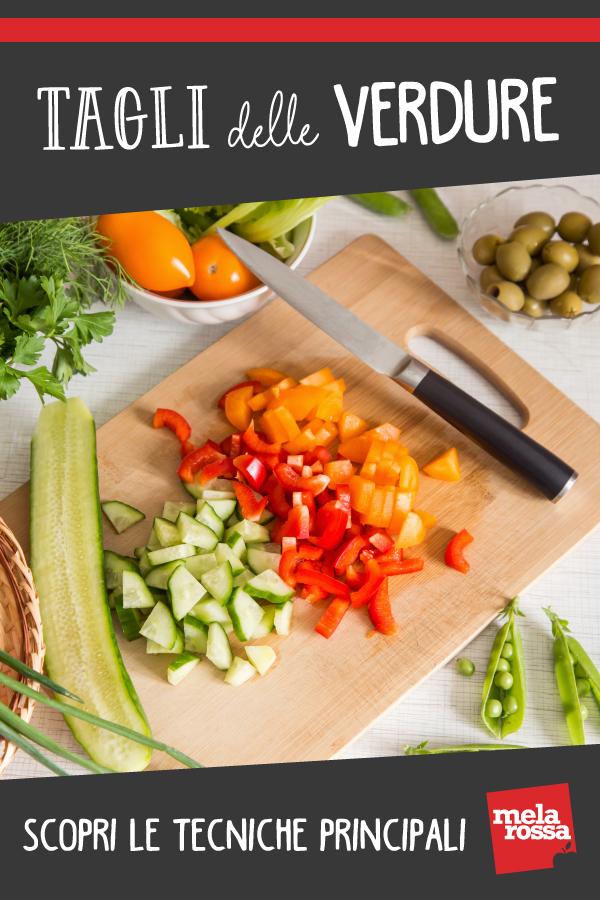 tagli di verdure: julienne, brunoise, ecc. Come farli