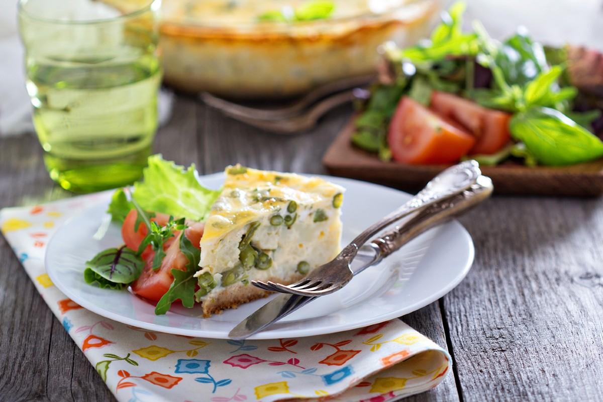 torta di fagiolini con patate e uova