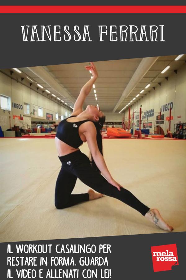 Vanessa Ferrari allenamento a casa video