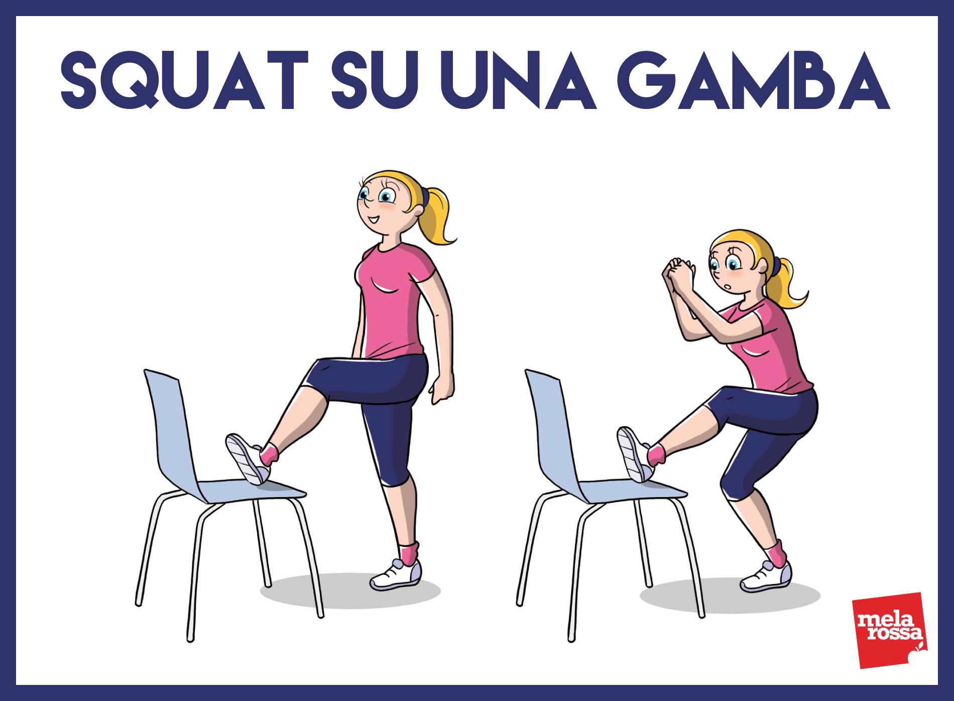 GAG: squat su una gamba