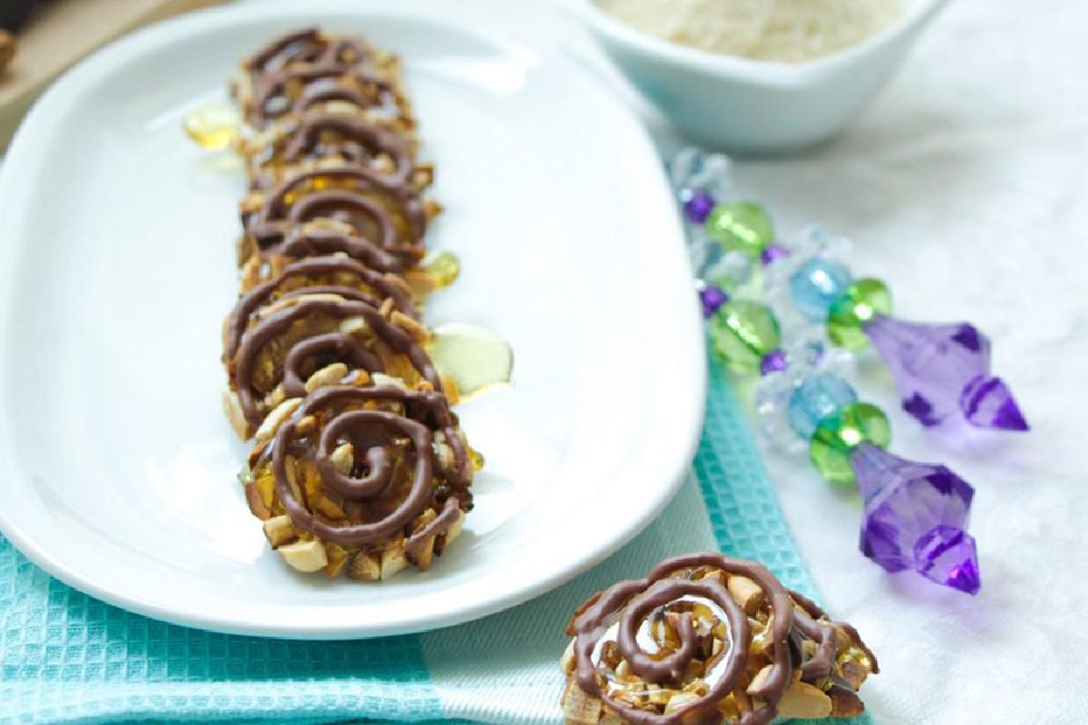biscotti alle mandorle e cioccolato fondente