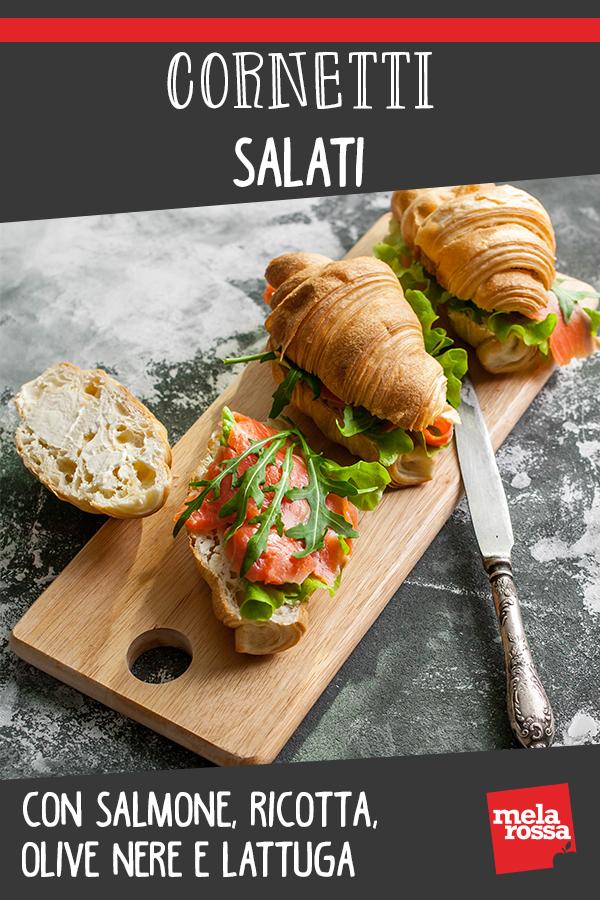 Cornetti salati salmone ricotta