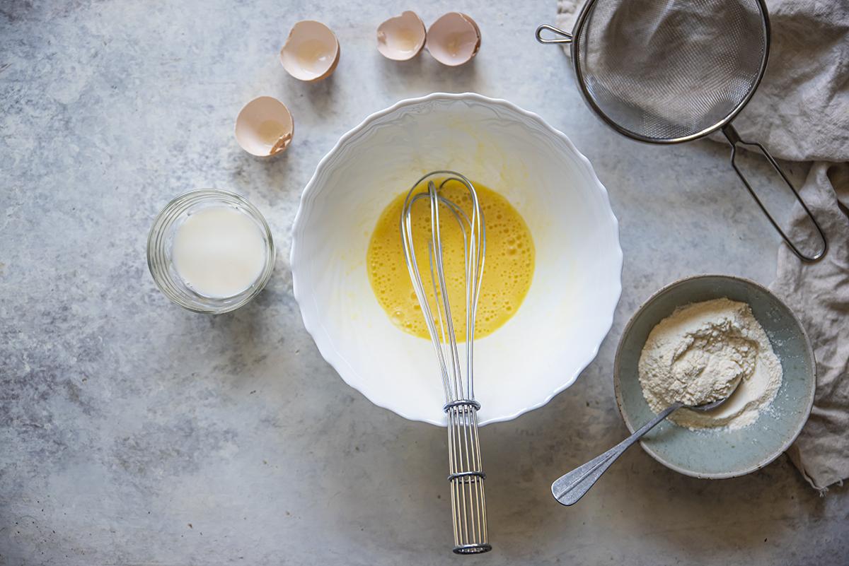 crepes alle verdure uova