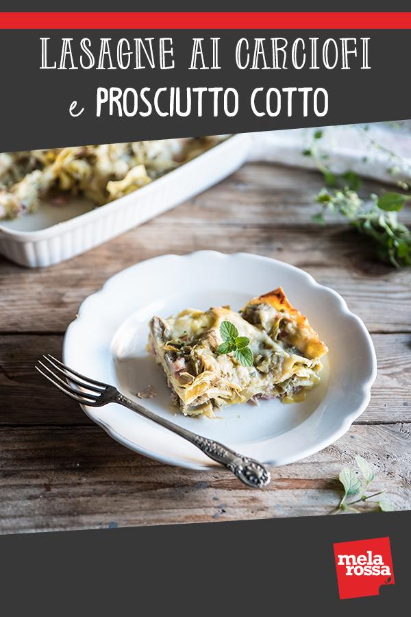 lasagne con carciofi e prosciutto