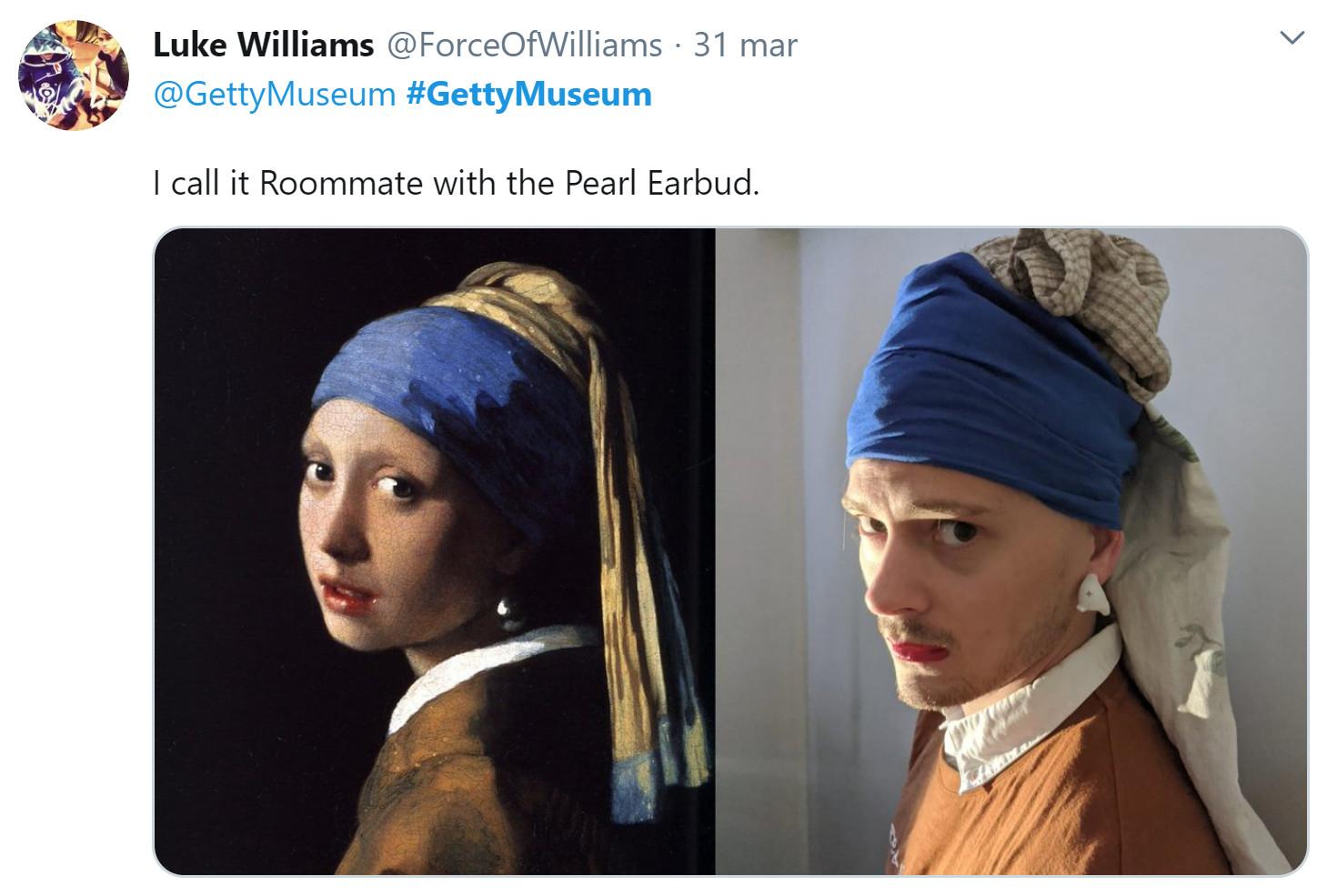 museo getty challenge ragazza orecchino di perla
