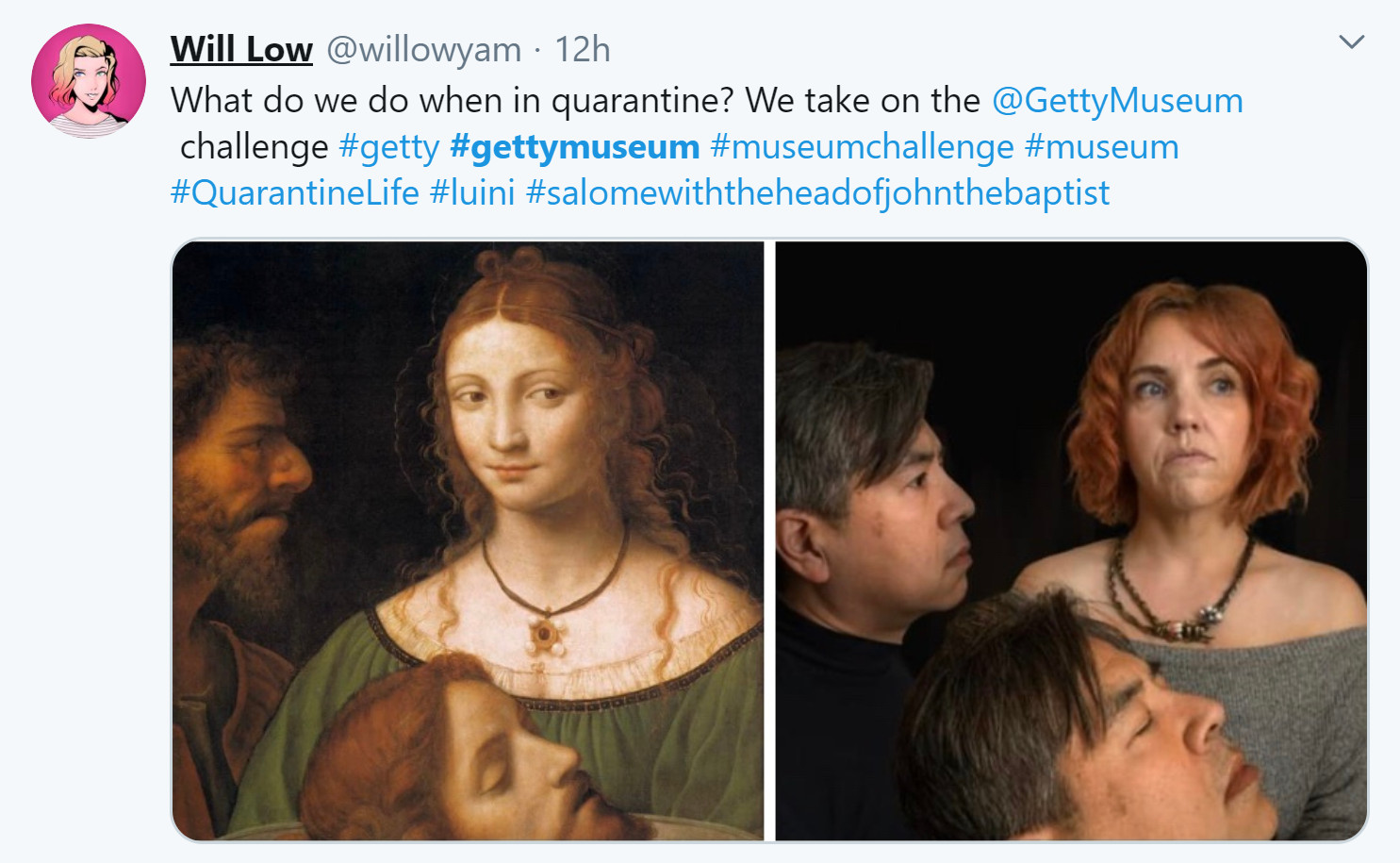 museo getty challenge salome