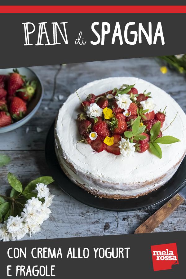 Pan di Spagna con crema allo yogurt e fragole