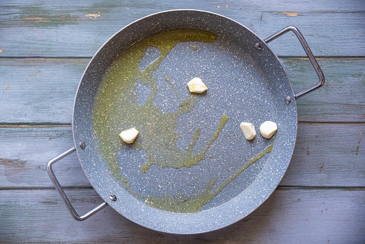 pollo e peperoni aglio