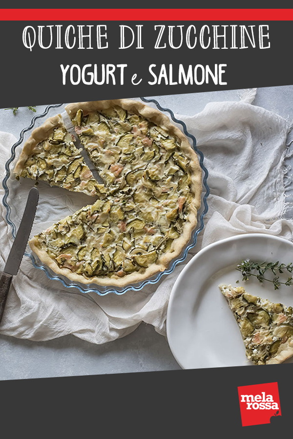 Quiche di zucchine, yogurt e salmone