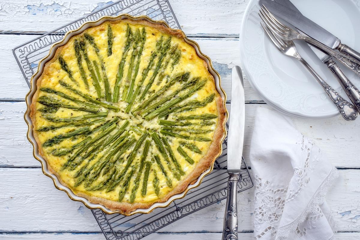 Ricette con asparagi: quiche con asparagi