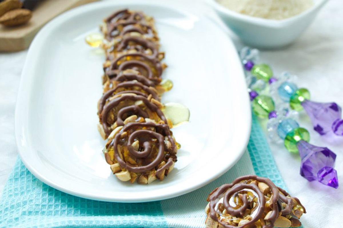 Ricette con cioccolato: biscotti alle mandorle e cioccolato fondente