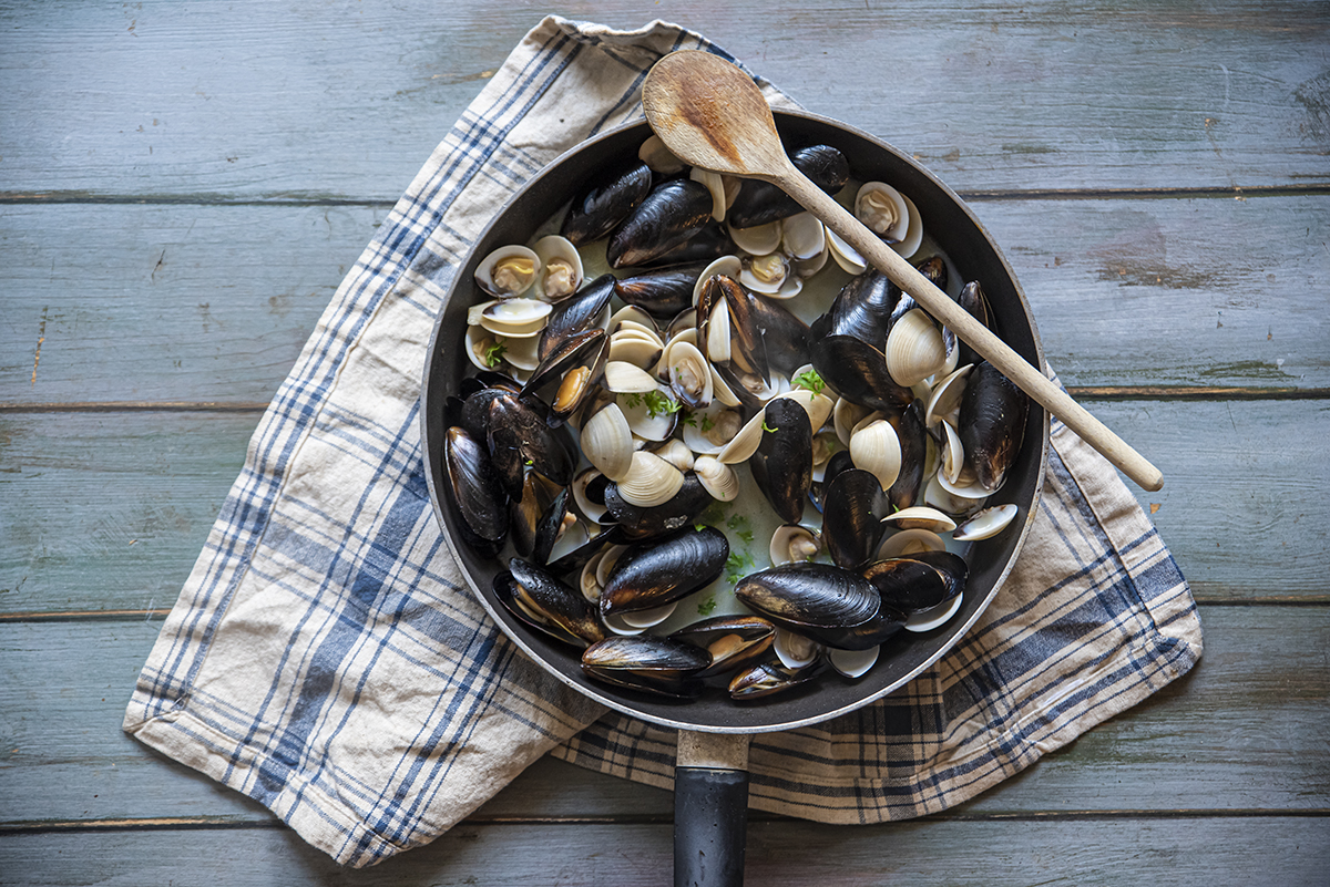 risotto alla pescatora vongole e cozze