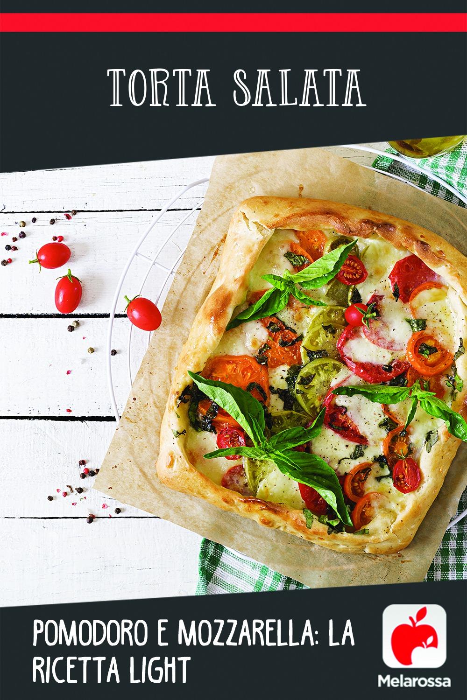 torta salata pomodoro e mozzarella