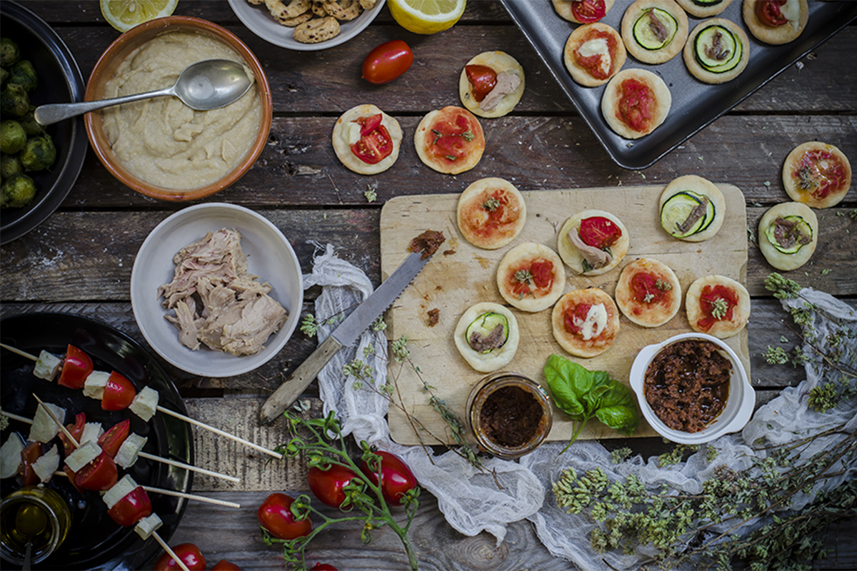Yogurt greco: pizzette