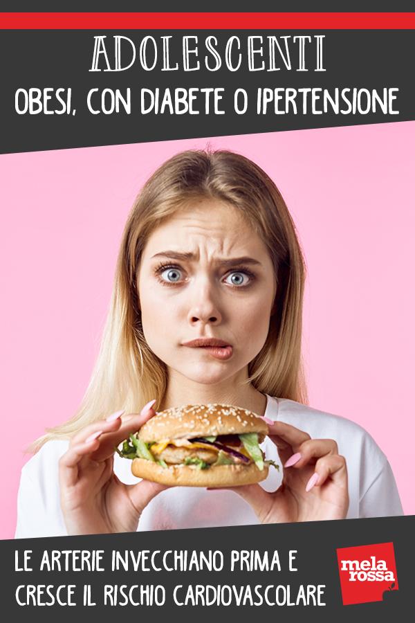 adolescenti obesità, diabete ipertensione rischio salute arterie