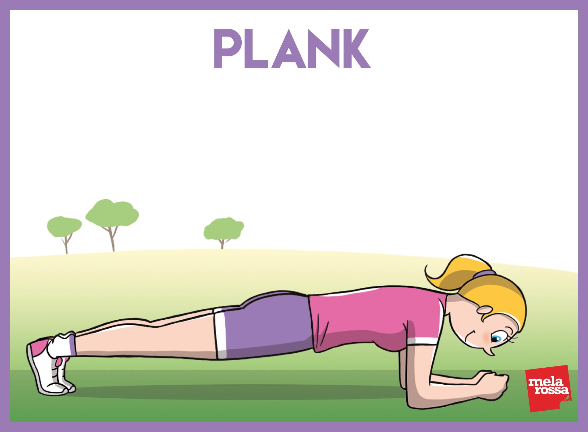 allenamento funzionale: plank