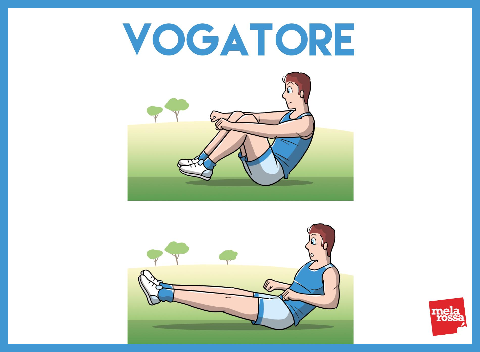 allenamento funzionale vogatore