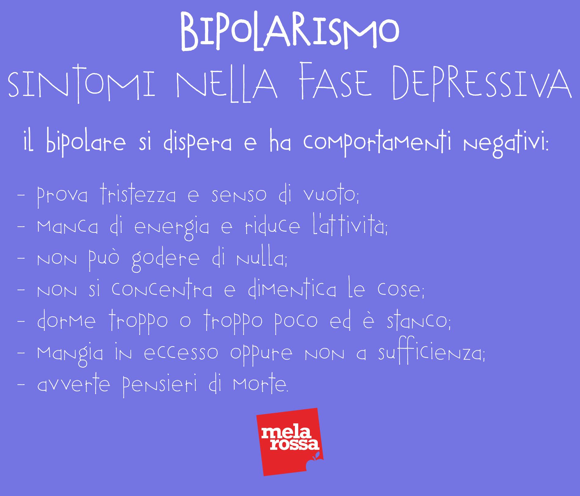 disturbo bipolare: sintomi nella fase depressiva