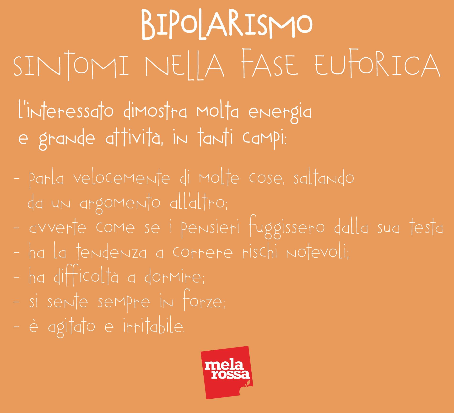 bipolarismo: sintomi nella fase euforica