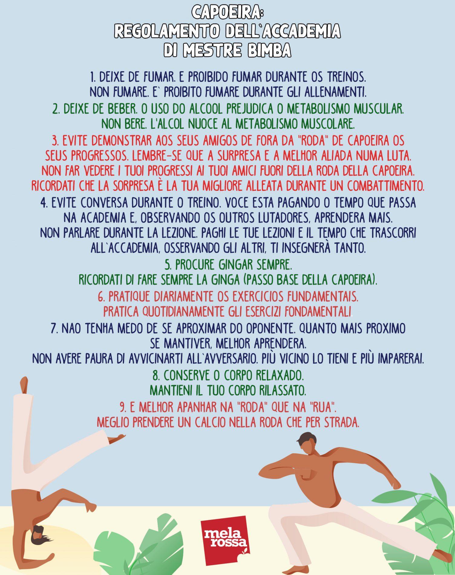 capoeira: regolamento dell'accademia