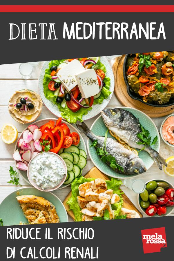 dieta mediterranea previene calcolosi renale