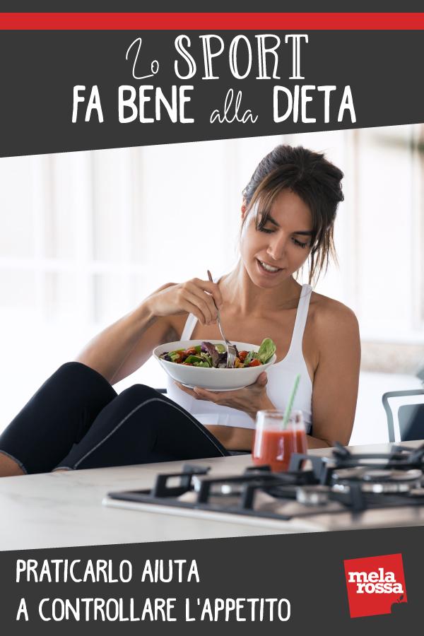 Sport alleato dieta: aiuta a controllare appetito