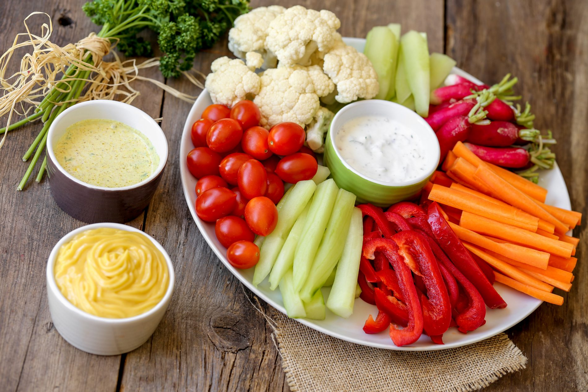 taglia le calorie con le verdure crude