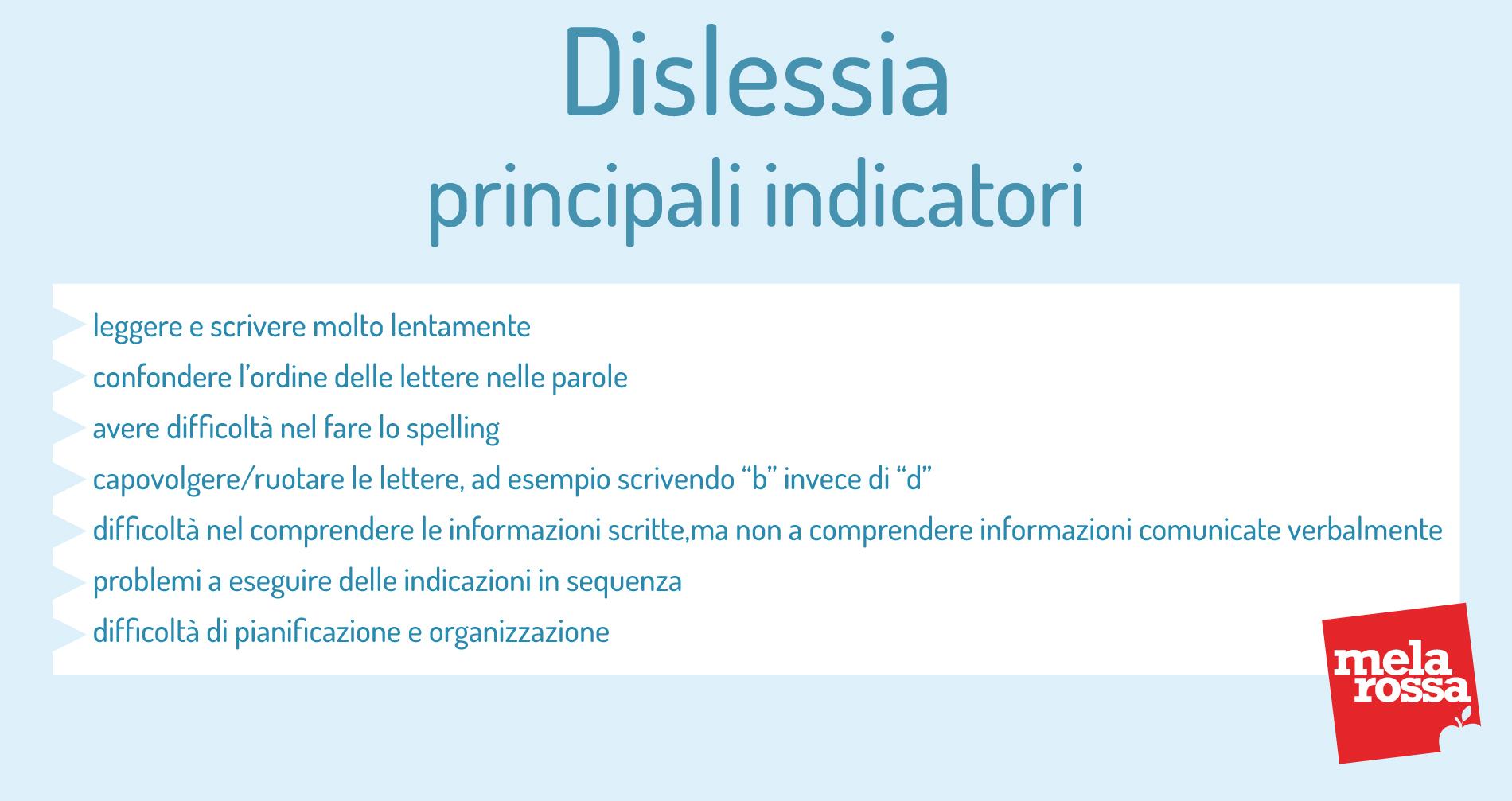 dislessia: principali indicatori