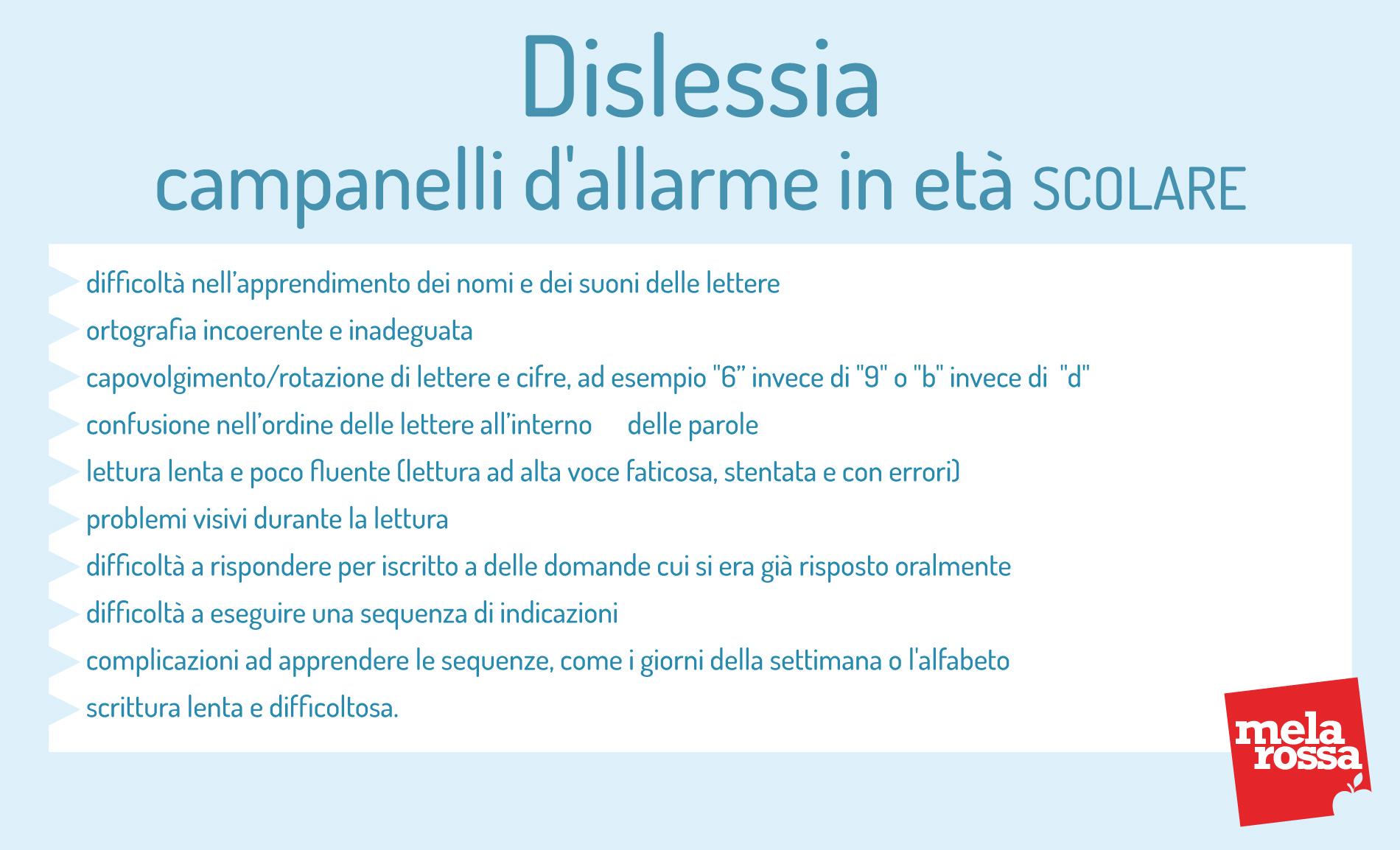 dislessia: campanelli d'allarme in età prescolare