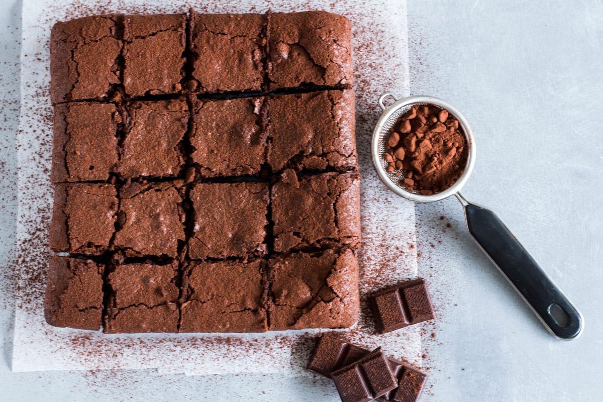 Brownies senza burro con cioccolato fondente