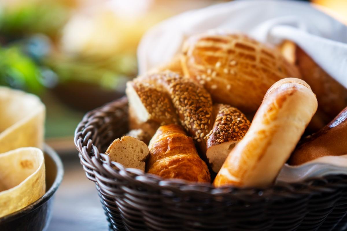 tagliare le calorie cestino pane