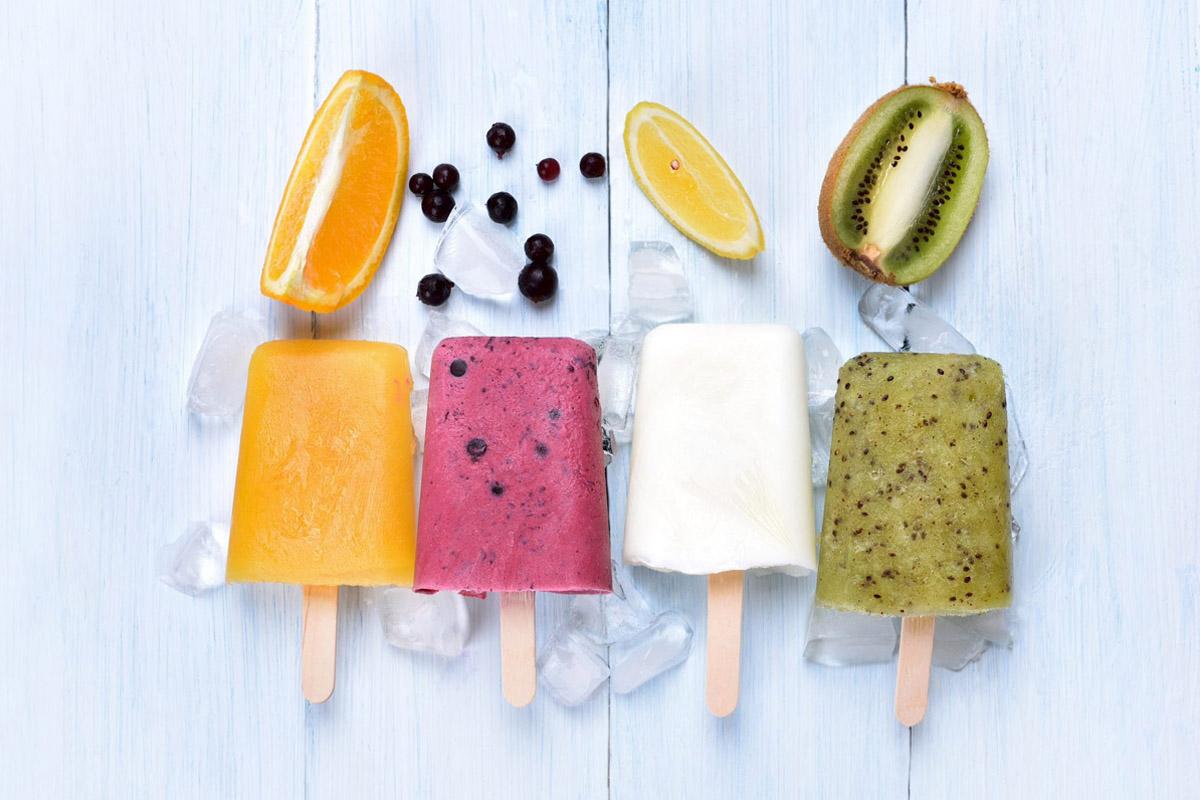 ghiaccioli di frutta allo yogurt