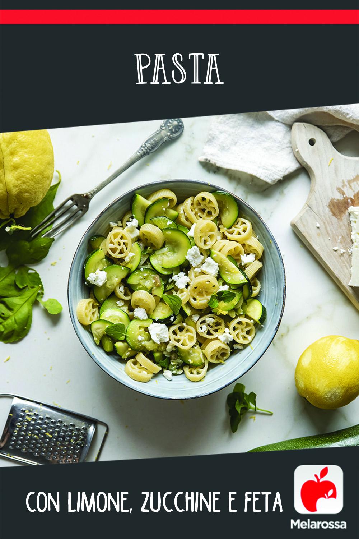 pasta limone zucchine e feta