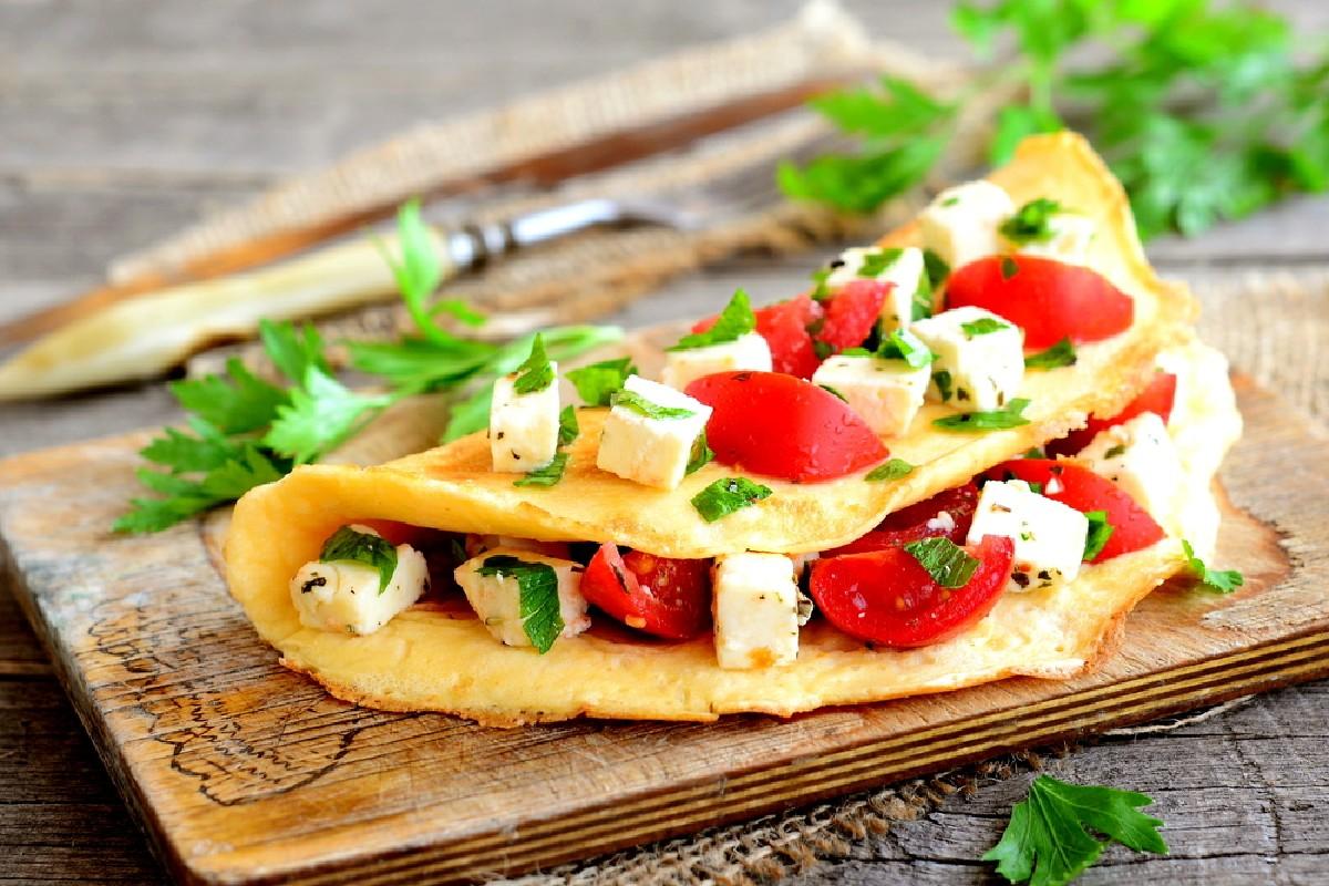 tagliare le calorie omelette