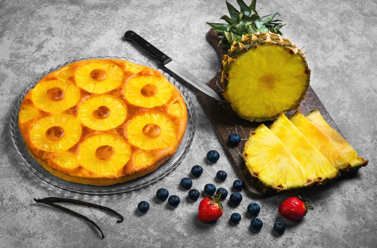 trota all'ananas e vaniglia