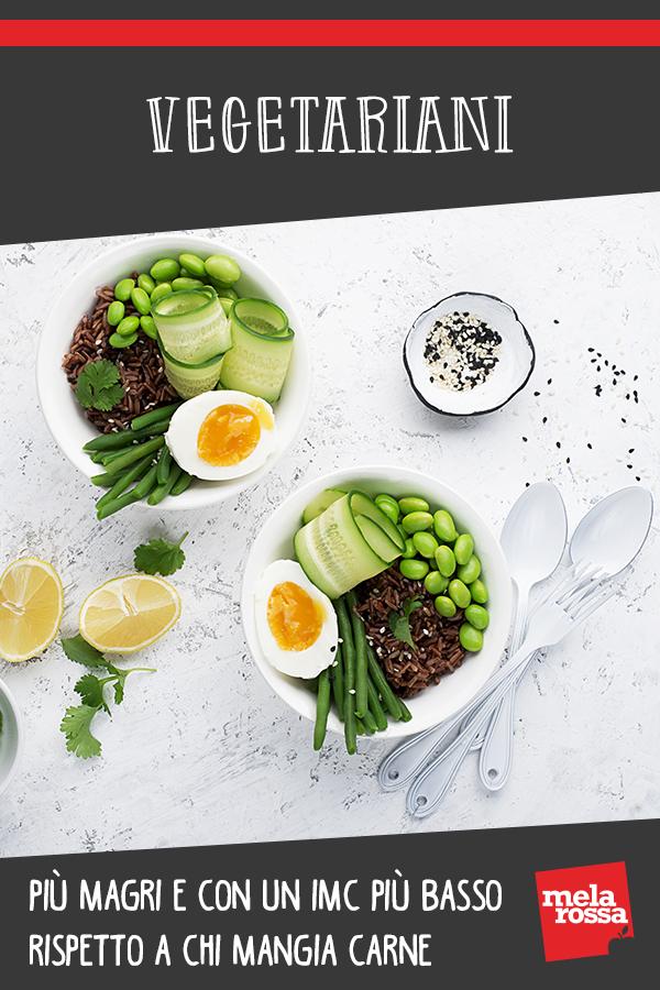 Vegetariani: più magri e con IMC più basso