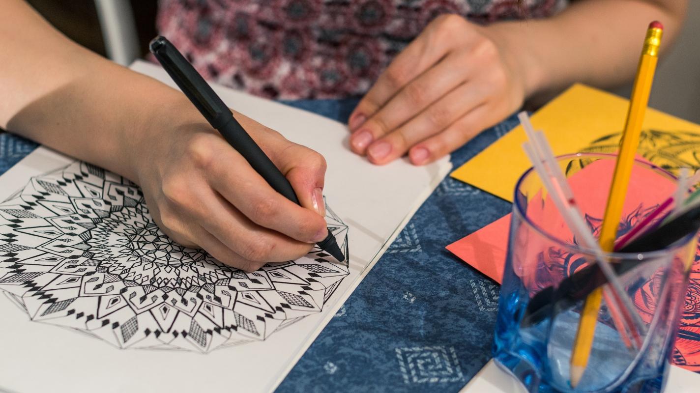 come colorare un mandala